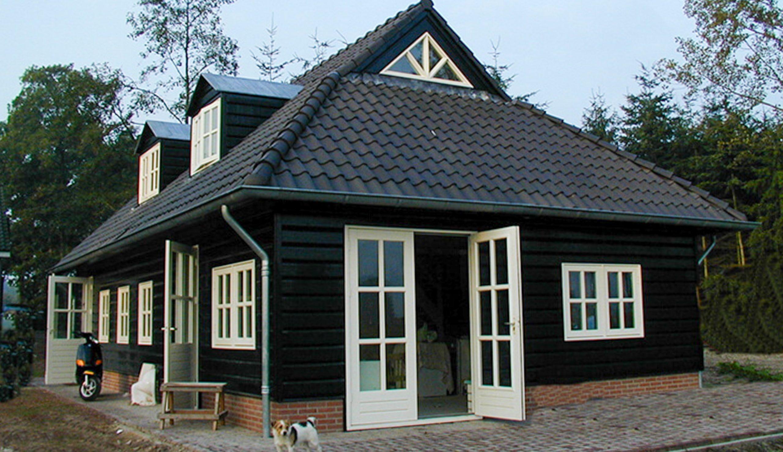 Houten woonhuis mantel 4